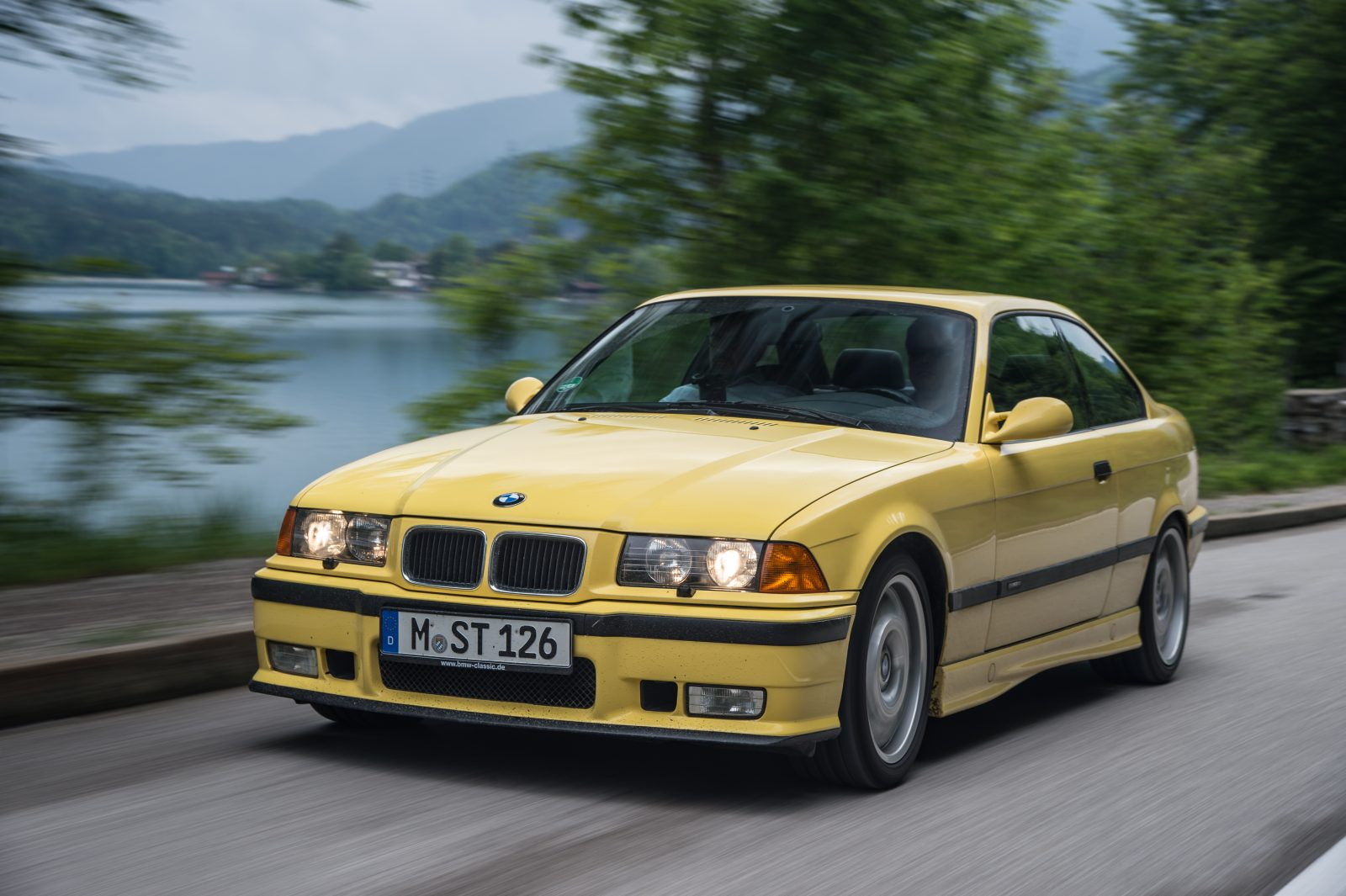 yellow-e36-angle-in-motion